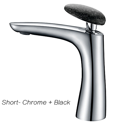 Black/White/Chrome Plated Deck Mounted Basin Faucet Solid Brass Bathroom Faucet Single Handle Hot And Cold Water Mixer Tap Ware