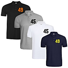 c65dc0bcebe6 Number Polo Shirts (Pack Of 4) - Multicolour