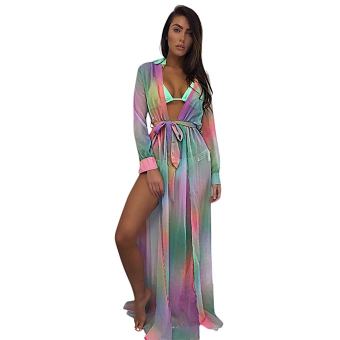 0f7fefa1e482f Womens Bikini Cover Up Swimwear Beach Maxi Wrap Skirt Sarong Kimono Kaftan  Dress