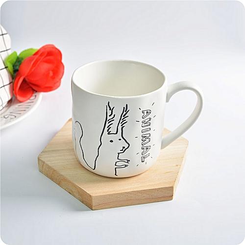 KCASA KC-MUG05 Four Cartoon Animals Ceramic Milk Cup Coffee Mug Tea Glass Tea Cup Tumbler