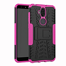 For Zenfone 5Lite 5Q 6.0 ZC600KL Case, 3 In 1 Tyre Grain Cobwebs Shock-proof Throw-proof Housing With Foldable Stand Holder TPU + PC Back Cover Case For ASUS ZenFone 5 Lite / 5Q (ZC600KL)