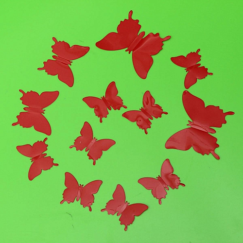 12Pcs Art Decal Home Decor Room Wall Stickers 3D Butterfly Stickers Decorations