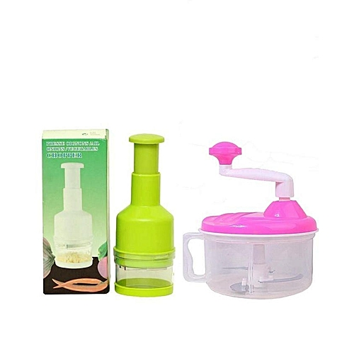 Manual Blender & Food Processor And Vegetable & Onion Chopper-Multicolour