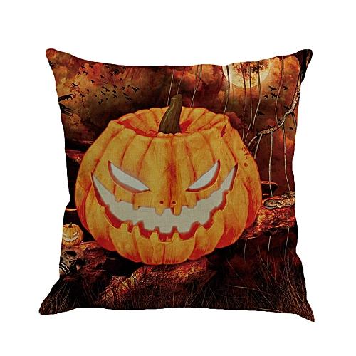 Fashion Halloween Castle Square Pillow Cover Cushion Case Pillowcase Zipper Closure C
