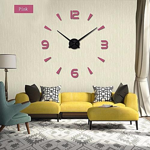 Super 3D DIY Big Wall Clock Acrylic Metal Mirror Super Big Personalized Digital Wall Watches Clocks Free Shipping SLS