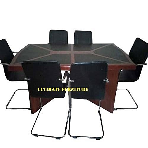 6 Seater Board Room Conference Table With 6 Chairs