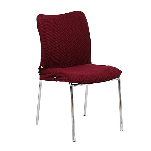 Removable Swivel Chair Cover Wine Red