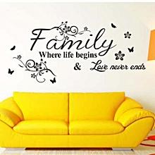 0cd92dc9d8f5 Art Family Beautiful Flower Wall Stickers Home Words Decor Wall Sticker