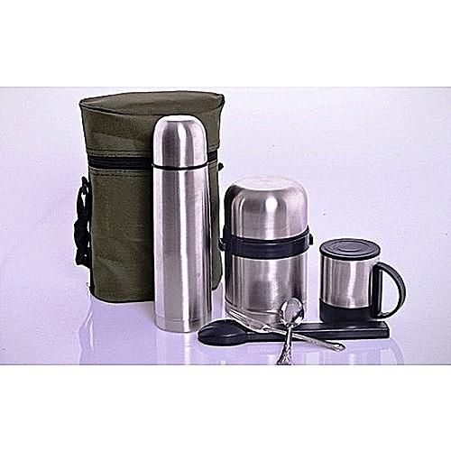 Universal 5 In 1 Children Lunch Pack-Food Flask, Water Flask, Mug N Cutlerries