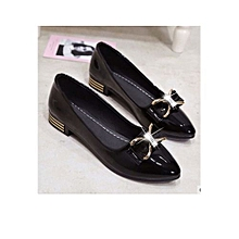 a8164664b815 New Trendy Pointed Toe Women Low Pump Shoe- Black