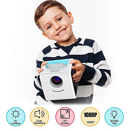 Q2 Children's Toy Projector 70 Lumens US - Sky Blue