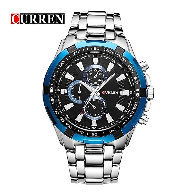 ce0b63d2616095 CURREN Watches Men Quartz Top Brand Analog Military Male Watches Men Sports  Army Watch Waterproof Blue