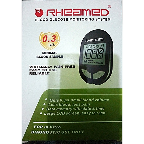 Blood Sugar Monitor – Glucometer + 10 Free Test Strips