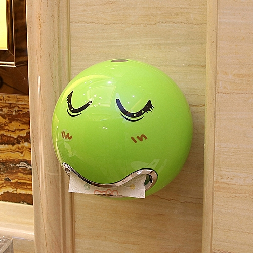 Cute Eyes Stickers Portable Cute Durable Wall Mounted Bathroom Paper Roll Holder Tissue Box