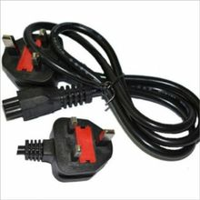 3-Pin 13A 250V AC Laptop Power Cord Adapter Cable Plug - Black
