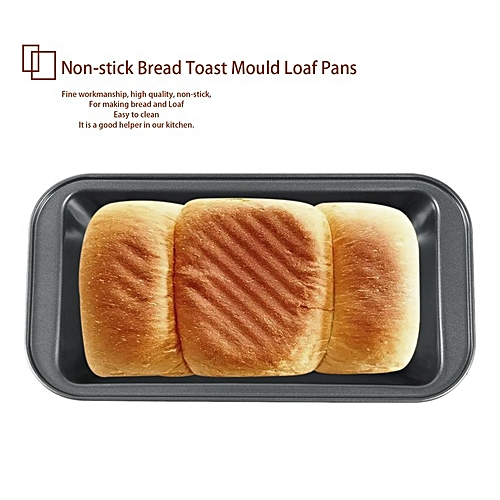 Carbon Steel Baking Cake Mold Rectangle Non-stick Bread Toast Mould Loaf Pans Black