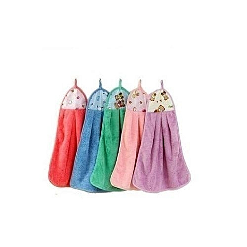 Set Of 5 Colourful Kitchen Towel Hand Cleaning Napkin -- Multicolour