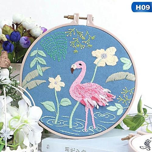 Eleganya New Creative DIY Flowers Embroidery Boutique Cross Stitch Series Arts Crafts
