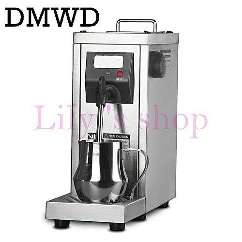 DMWD Milk Steamer Commercial Pump Pressure Milk Foam Frother Espresso Coffee Steam Maker Stainless Steel Water Boiling Machine