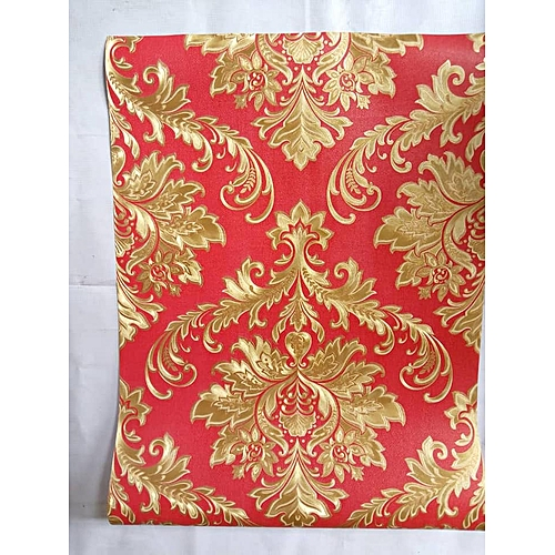 Red And Gold Wallpaper - 5.3 Square Metres