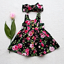 361e9a446ccd Baby Girl Floral Dress Kid Party Wedding Pageant Formal Dresses Sundress  Clothes