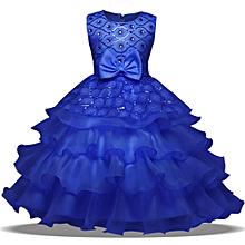 73e134abd Flower Baby Girl Princess Bridesmaid Pageant Gown Birthday Party Wedding  Dress Musiccool