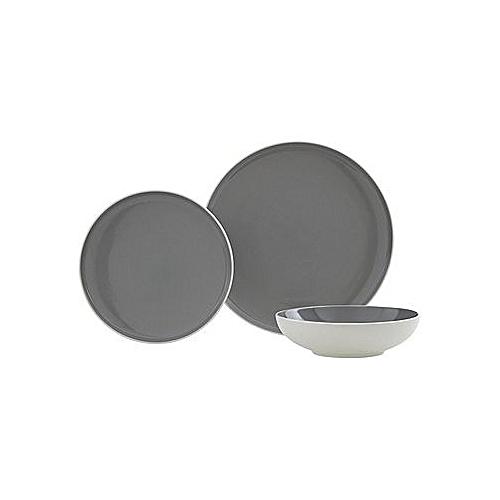 12 Piece Slate Grey Dinner Set