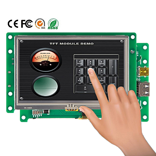 "4.3"" Serial Interface TFT LCD Controller Touch Screen Monitor"