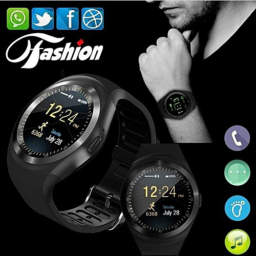 Y1 Smart Watch Touch Screen Fitness Activity Tracker Sleep Monitor Pedometer Calories Track Support SIM Card Solt