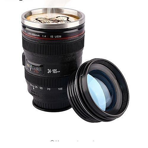 Camera Lens Design Stainless Mug