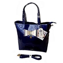 Bow Large Leather Style Patent Handbag
