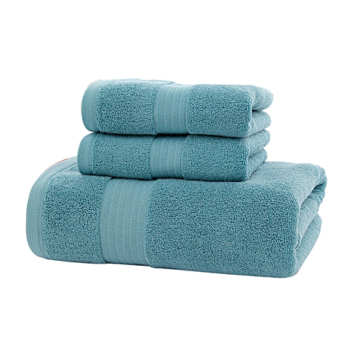 Xiuxingzi_Dtrestocy New 3PC Soft Cotton Absorbent Terry Luxury Hand Bath Beach Face Sheet Towels