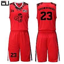 High Quality Men  039 s Customized Team Basketball Sport Jersey Uniform-Red( 0c359ff88