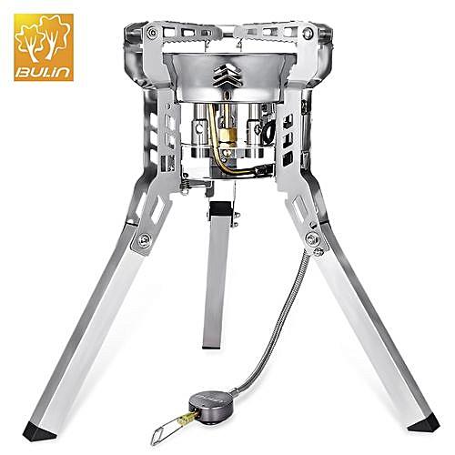 Foldable Split Gas Stove Portable BBQ Gear - Silver