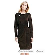 52b05a6ee Glittering Brown Long Sleeve Dress