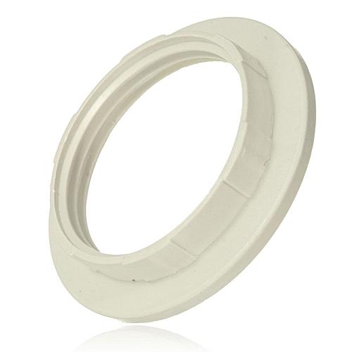 10 X White E27 Screw Lampshade Light Shade Collar Ring Adaptor Lamp Bulb Holder