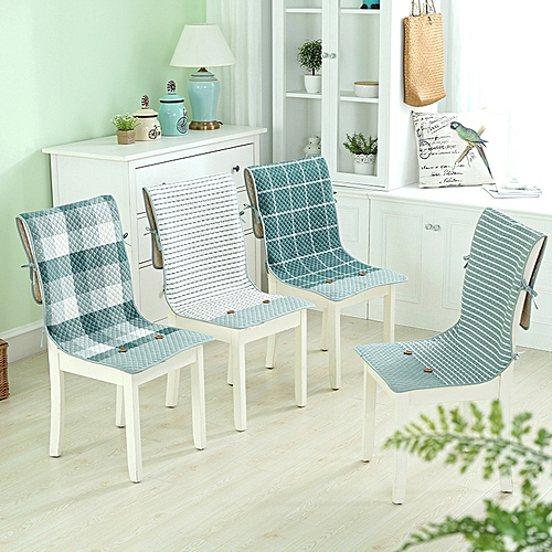 Honana BX 100% Cotton Washed Breathable Dining Back Chair Covers Soft Anti-skid Storage Style Fixed
