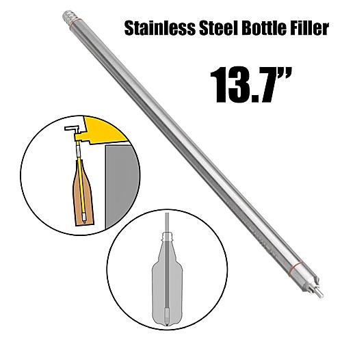 "Stainless Steel Wine Beer Bottling 13.7"" Length Spring Loaded Beer Bottle Filler"