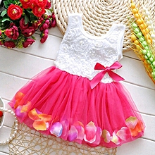 cde6620768 Baby Kids Girl Party Flower Princess Pageant Tutu Dress Lace Bow Tulle  Skirts