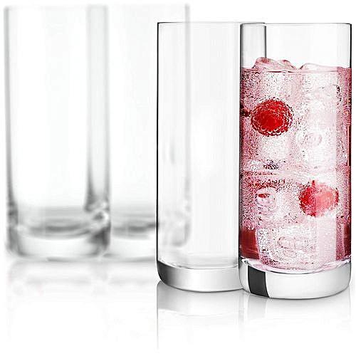 2 Set Of High Quality Cryastal Clear 6pcs Glass Cups (12pcs)
