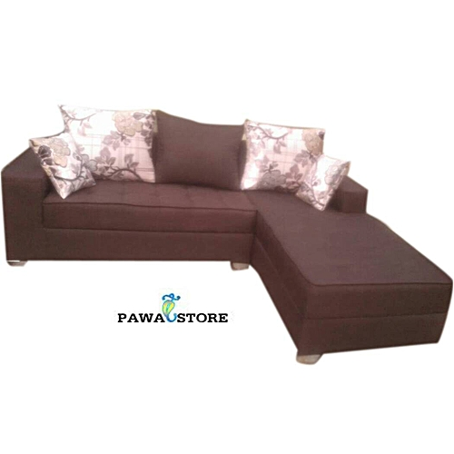 Coffee Brown 5 Seater L-Shaped Sofa. 'ORDER NOW AND GET FREE OTTOMAN' (Delivery To Lagos Only)