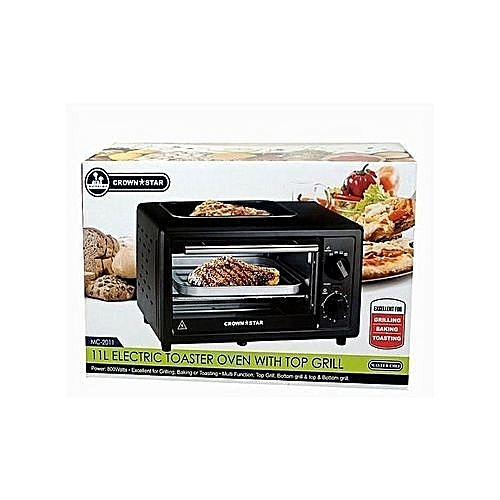 11 Litres Electric Toster Oven With Top Grill