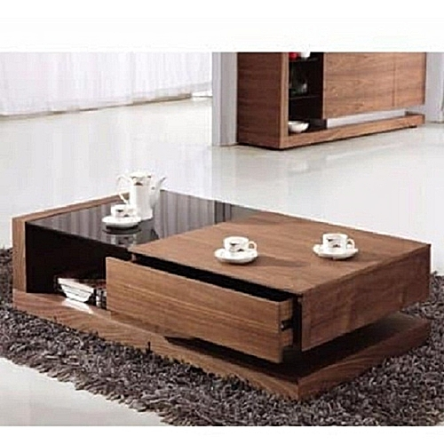 Arts Coffee Table - Brown -(DELIVERY WITHIN LAGOS ONLY)