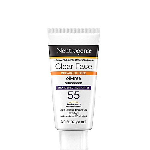 Clear Face Break-Out Free Liquid Lotion Sunscreen Broad Spectrum SPF 55 3oz