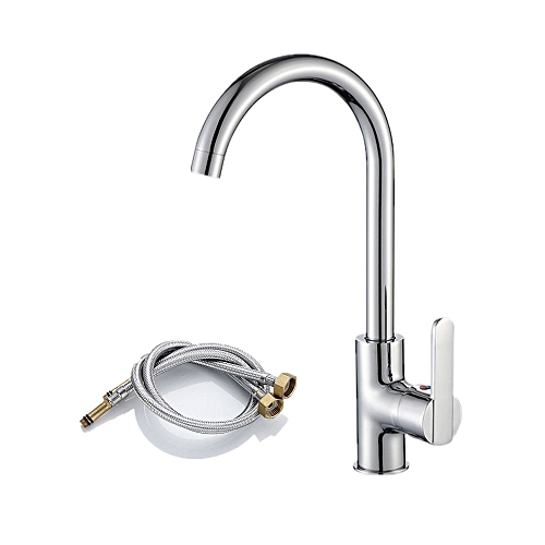 Kitchen Faucet Single Handle Bar Cold&Hot Water Mixer Tap With 2pcs 60cm/23.62in Connector Tube, High Qulity Brass Sink Replacement Tap …