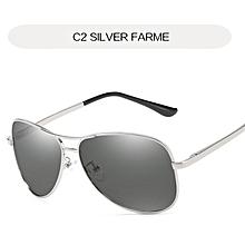 d5892179855 Uvlaik Photochromic Polarized Sunglasses Men Classic Pilot Metal Frame Sun Glasses  Women Chameleon Day Night Driving