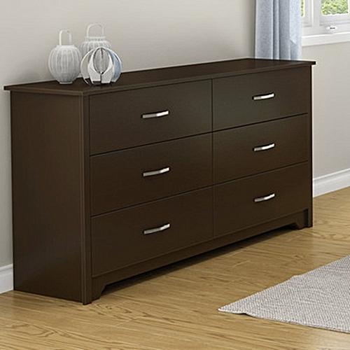 Epz 6 Chest Drawers Storage -Walnut
