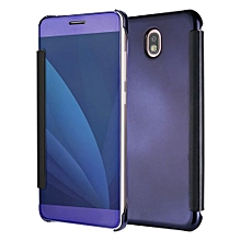 New Clear View Smart Flip Cover Case For Samsung Galaxy J7 Pro