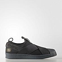 size 40 83476 828b6 Adidas Men Superstar SlipOn Trainers Shoes BLACK BZ0209 RHK