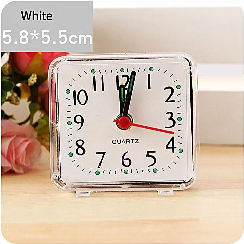 Dtrestocy Square Small Bed Compact Travel Quartz Beep Alarm Clock Cute Portable
